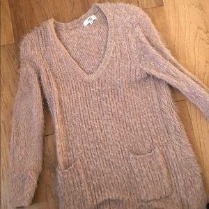 Jack Oversized Fuzzy Mauve Sweater
